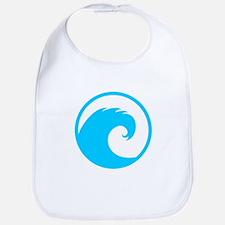 Ocean Wave Design Bib