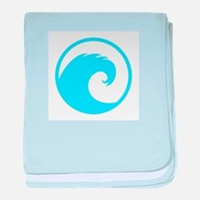 Ocean Wave Design baby blanket