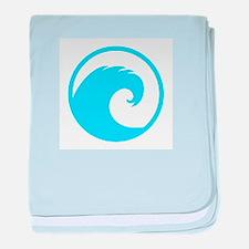 Ocean Wave Design baby blanket