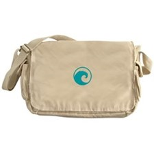 Ocean Wave Design Messenger Bag