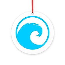 Ocean Wave Design Ornament (Round)
