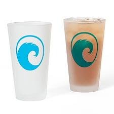 Ocean Wave Design Drinking Glass