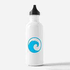 Ocean Wave Design Water Bottle