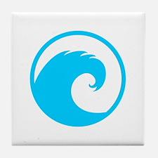 Ocean Wave Design Tile Coaster