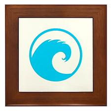Ocean Wave Design Framed Tile