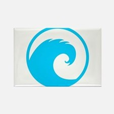 Ocean Wave Design Rectangle Magnet