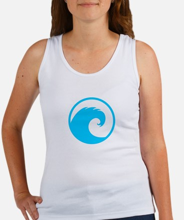 Ocean Wave Design Women's Tank Top