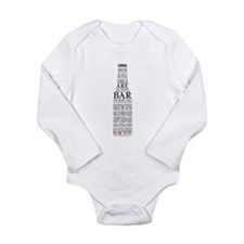 Ode to Beer Bottle Long Sleeve Infant Bodysuit