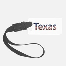 Texas Stars and Stripes Luggage Tag