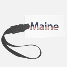 Maine Stars and Stripes Luggage Tag