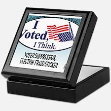I Voted, I Think Keepsake Box