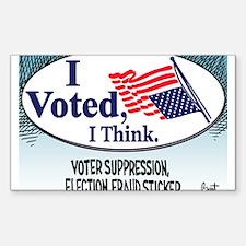 I Voted, I Think Sticker (Rectangle)