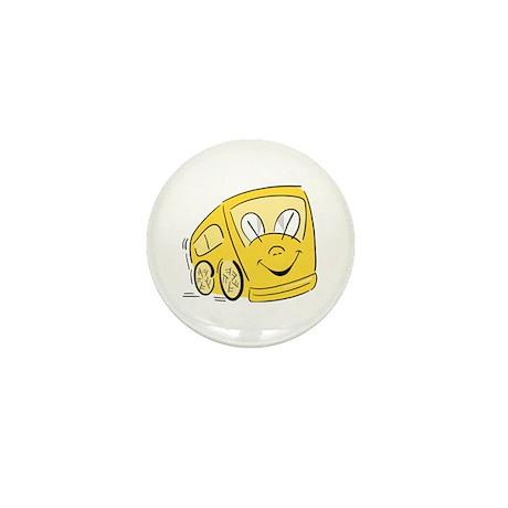 YELLOW HAPPY BUS Mini Button