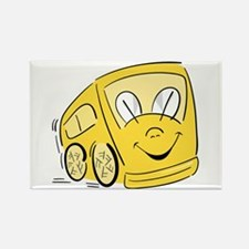 YELLOW HAPPY BUS Rectangle Magnet