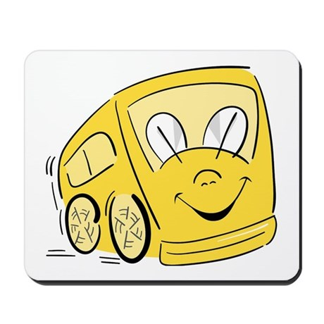 YELLOW HAPPY BUS Mousepad