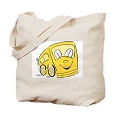 YELLOW HAPPY BUS Tote Bag