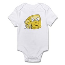 YELLOW HAPPY BUS Infant Creeper