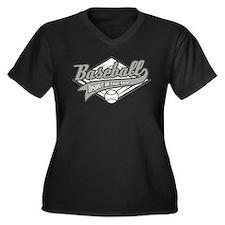 Baseball Respect All Women's Plus Size V-Neck Dark