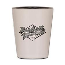 Baseball Respect All Shot Glass