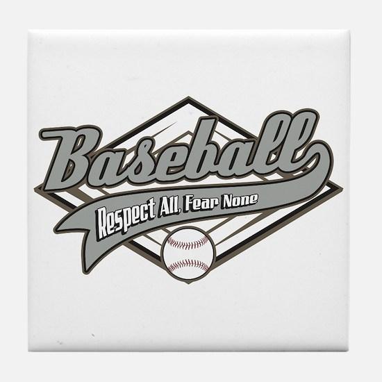 Baseball Respect All Tile Coaster