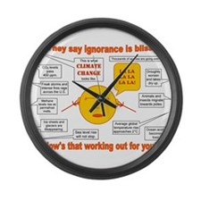 Climate Change Large Wall Clock