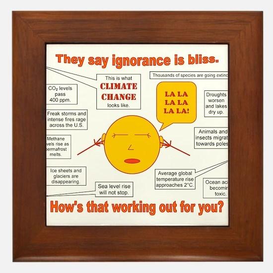 Climate Change Framed Tile