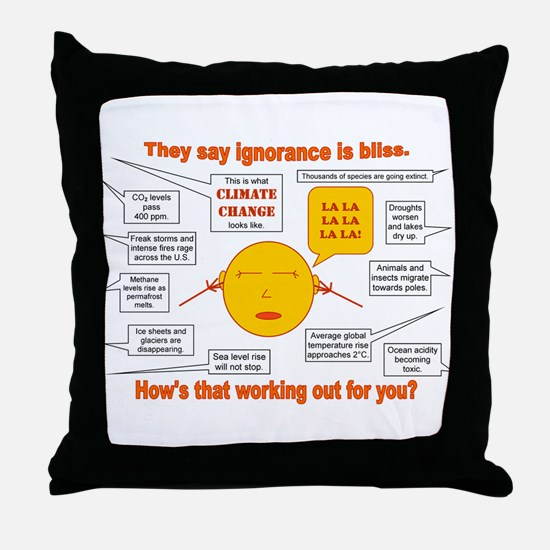 Climate Change Throw Pillow