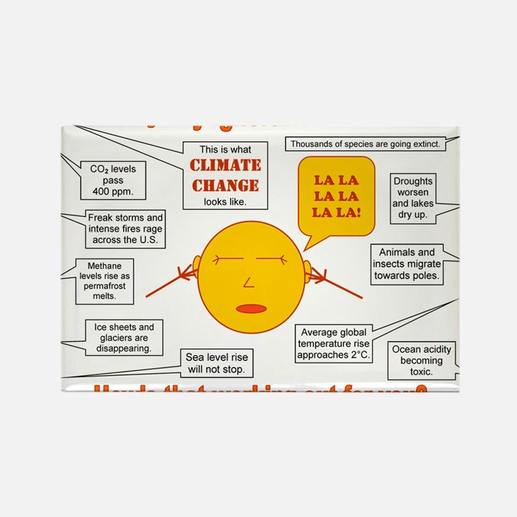 Climate Change Rectangle Magnet