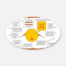 Climate Change Oval Car Magnet
