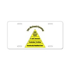 The McFood Pyramid Aluminum License Plate