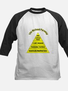The McFood Pyramid Kids Baseball Jersey
