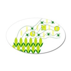 Genetic Pollution 20x12 Oval Wall Decal