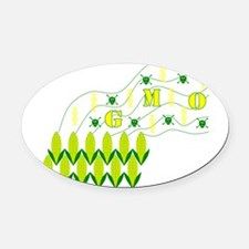 Genetic Pollution Oval Car Magnet