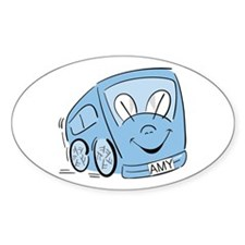 AMY'S BLUE BUS Oval Decal