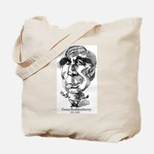 Gene Roddenberry Caricature Tote Bag