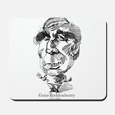 Gene Roddenberry Caricature Mousepad