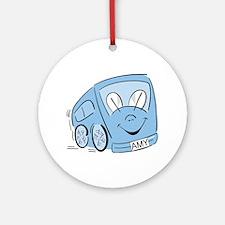 AMY'S BLUE BUS Ornament (Round)