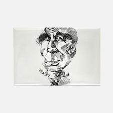 Gene Roddenberry Caricature Rectangle Magnet