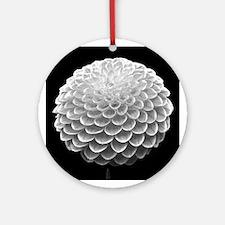 Black and White Dahlia Ornament (Round)