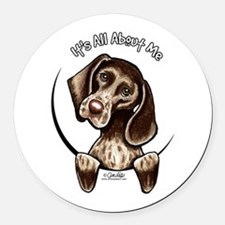 Pointer IAAM Round Car Magnet