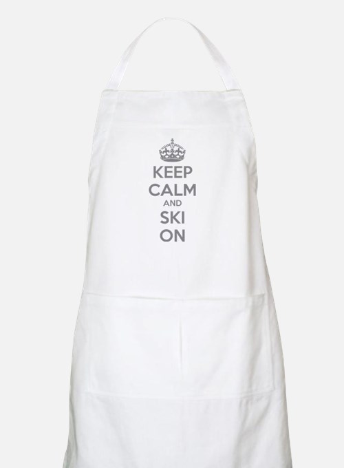 Keep calm and ski on Apron