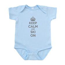 Keep calm and ski on Infant Bodysuit