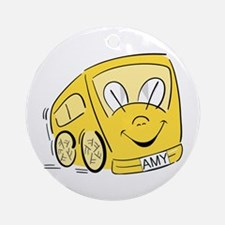 AMY'S YELLOW BUS Ornament (Round)
