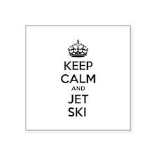 "Keep calm and ski on Square Sticker 3"" x 3"""