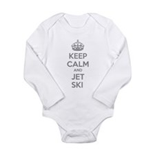 Keep calm and ski on Long Sleeve Infant Bodysuit