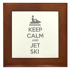 Keep calm and jet ski Framed Tile