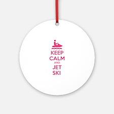 Keep calm and jet ski Ornament (Round)