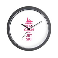 Keep calm and jet ski Wall Clock
