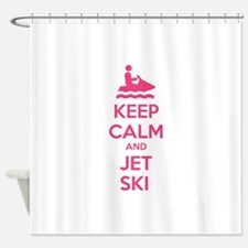 Keep calm and jet ski Shower Curtain