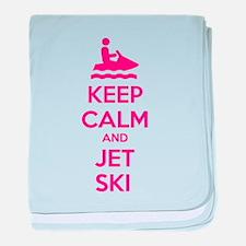 Keep calm and jet ski baby blanket
